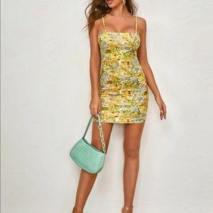 NWT Yellow Floral Dress